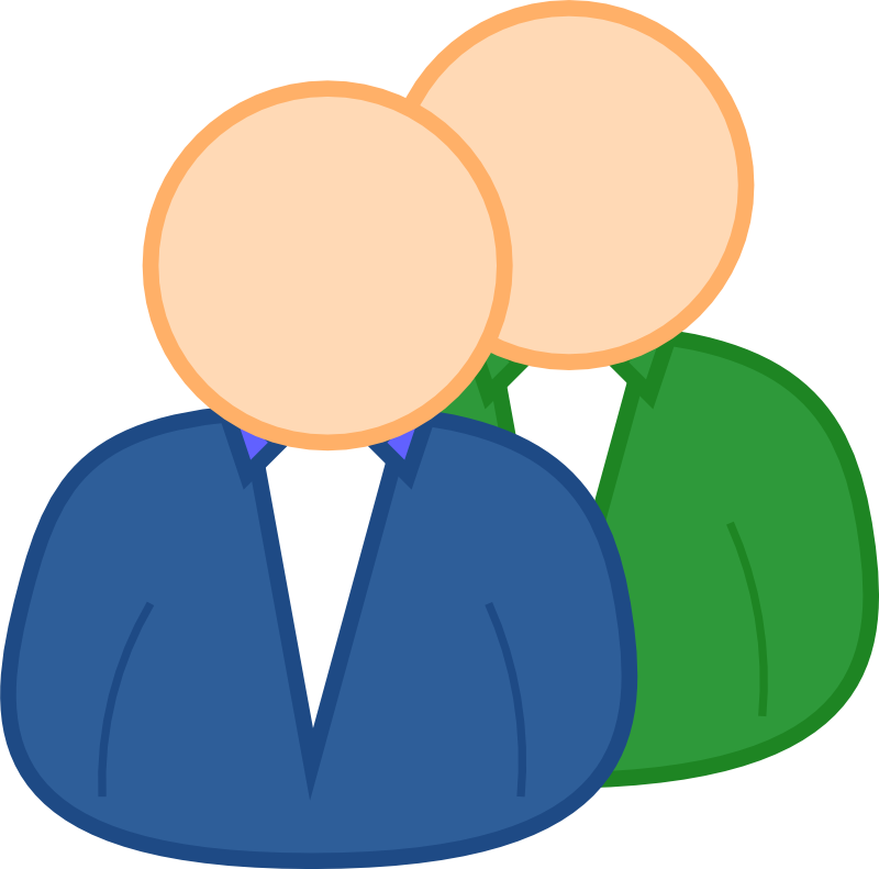 Small group . Computer clipart yellow