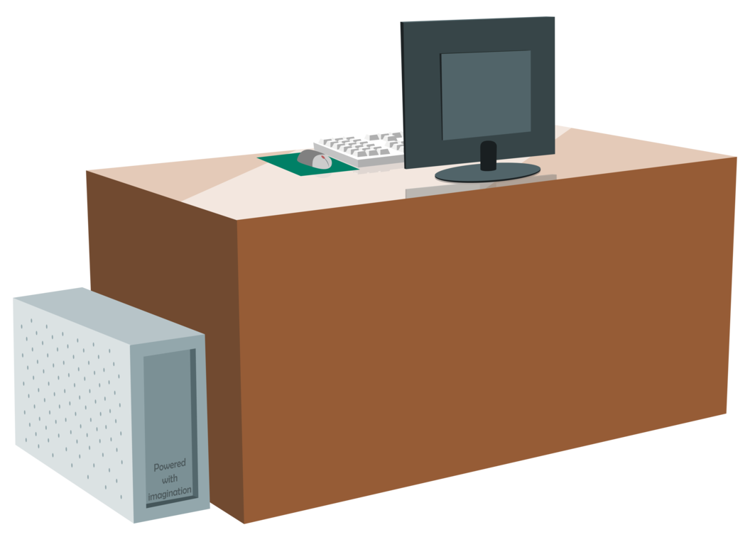 Desk by zutheskunk on. Computer vector png