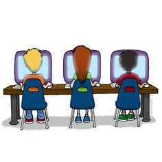 Computers clipart. Computer for kids sketch