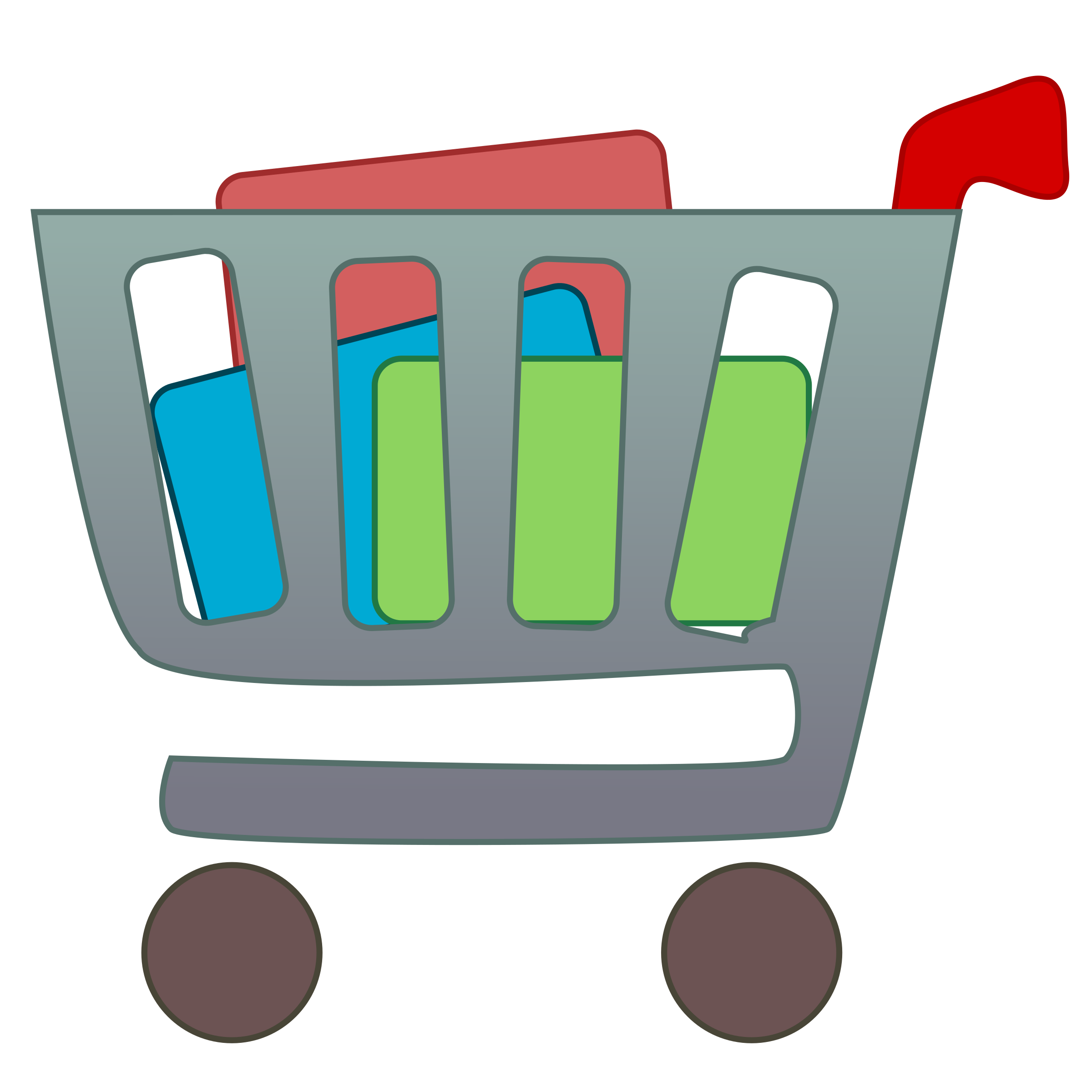 Computers clipart item. Shopping cart with items