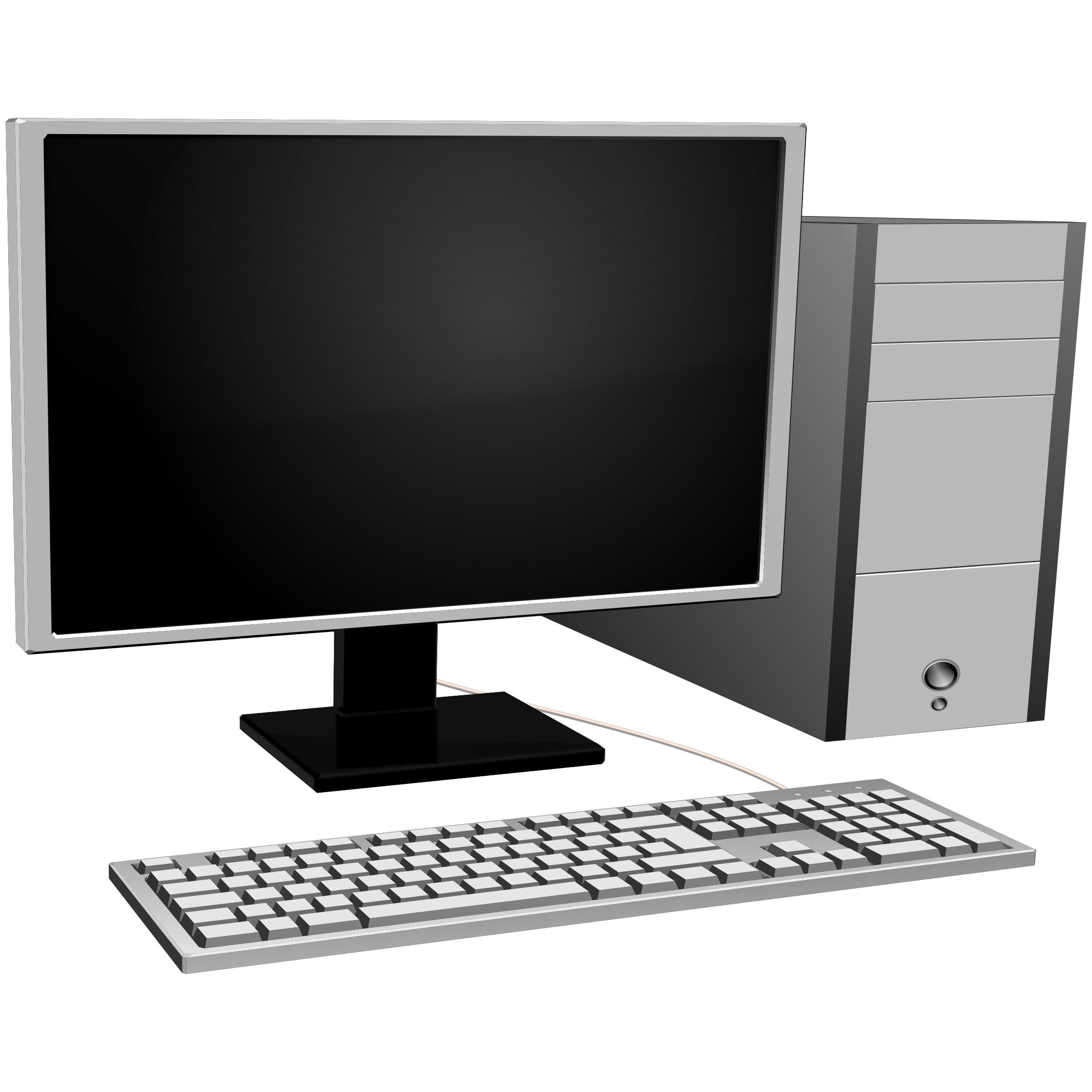 Big image png. Pc clipart basic computer