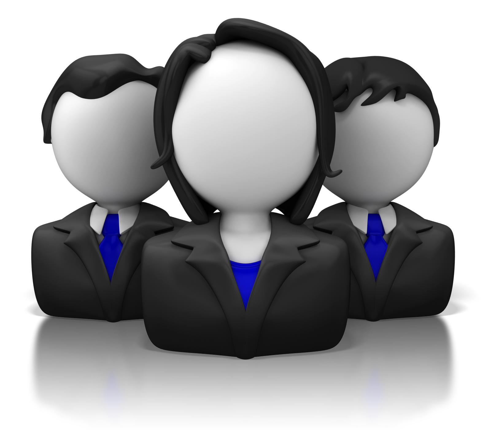Business icon group clr. Computers clipart team
