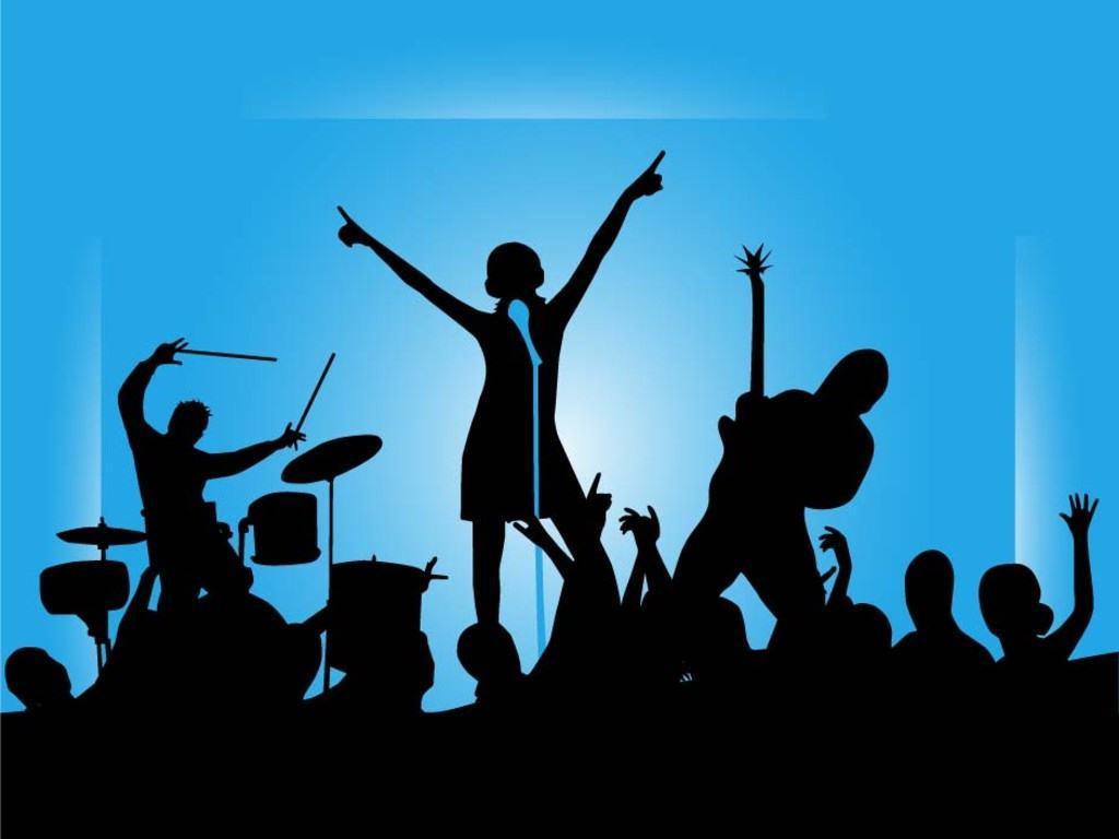 Music clip art . Concert clipart