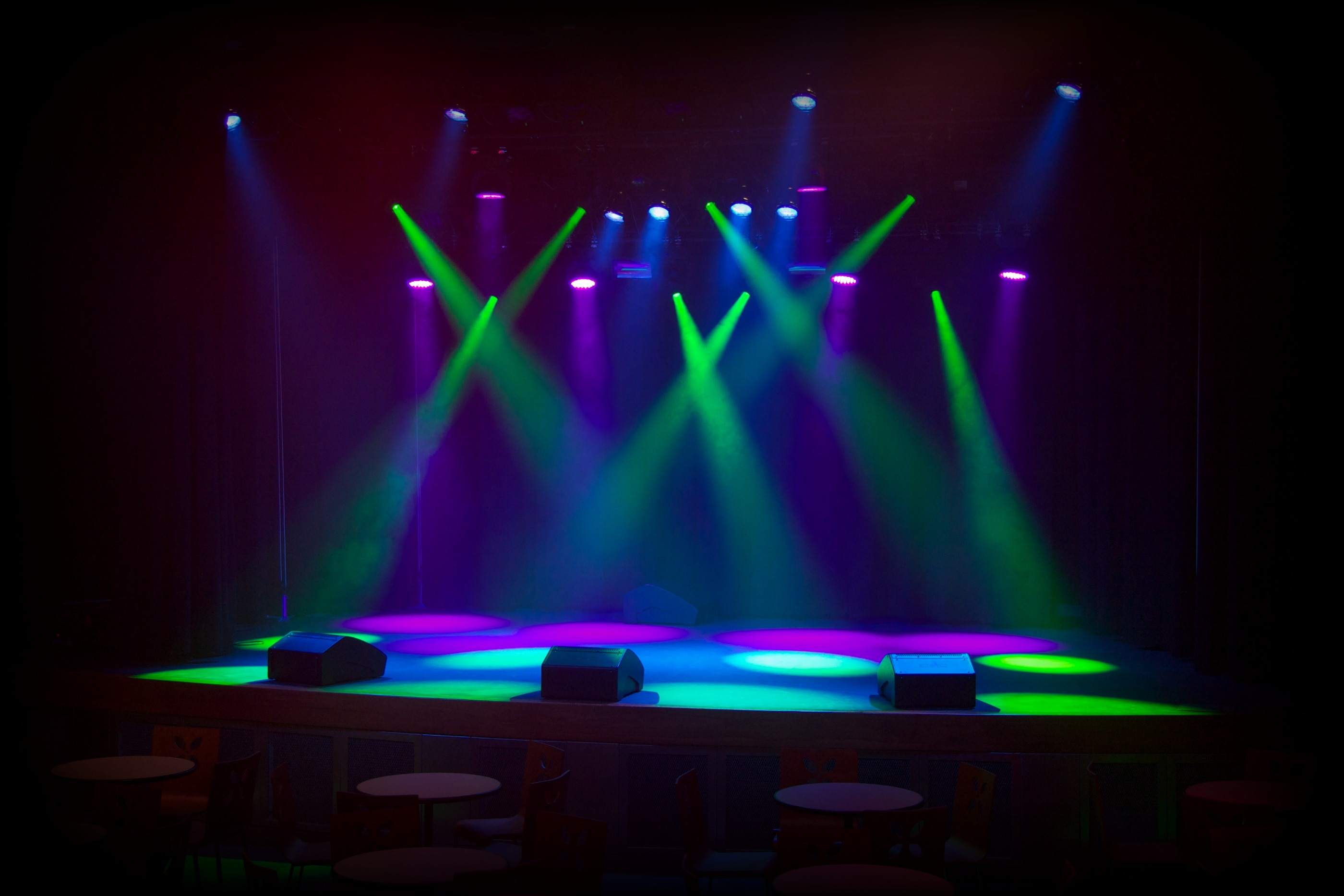 Avalanche concert lighting staging. Theatre clipart dj light