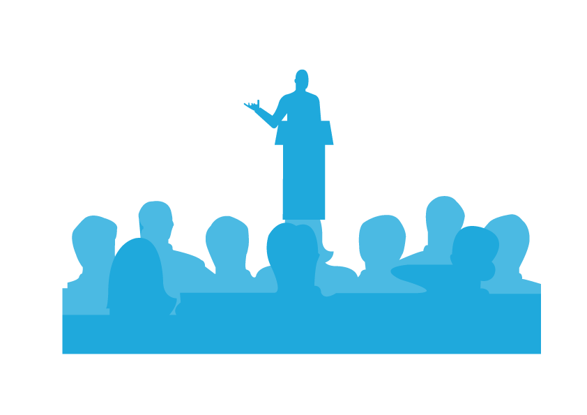 crowd clipart audience target