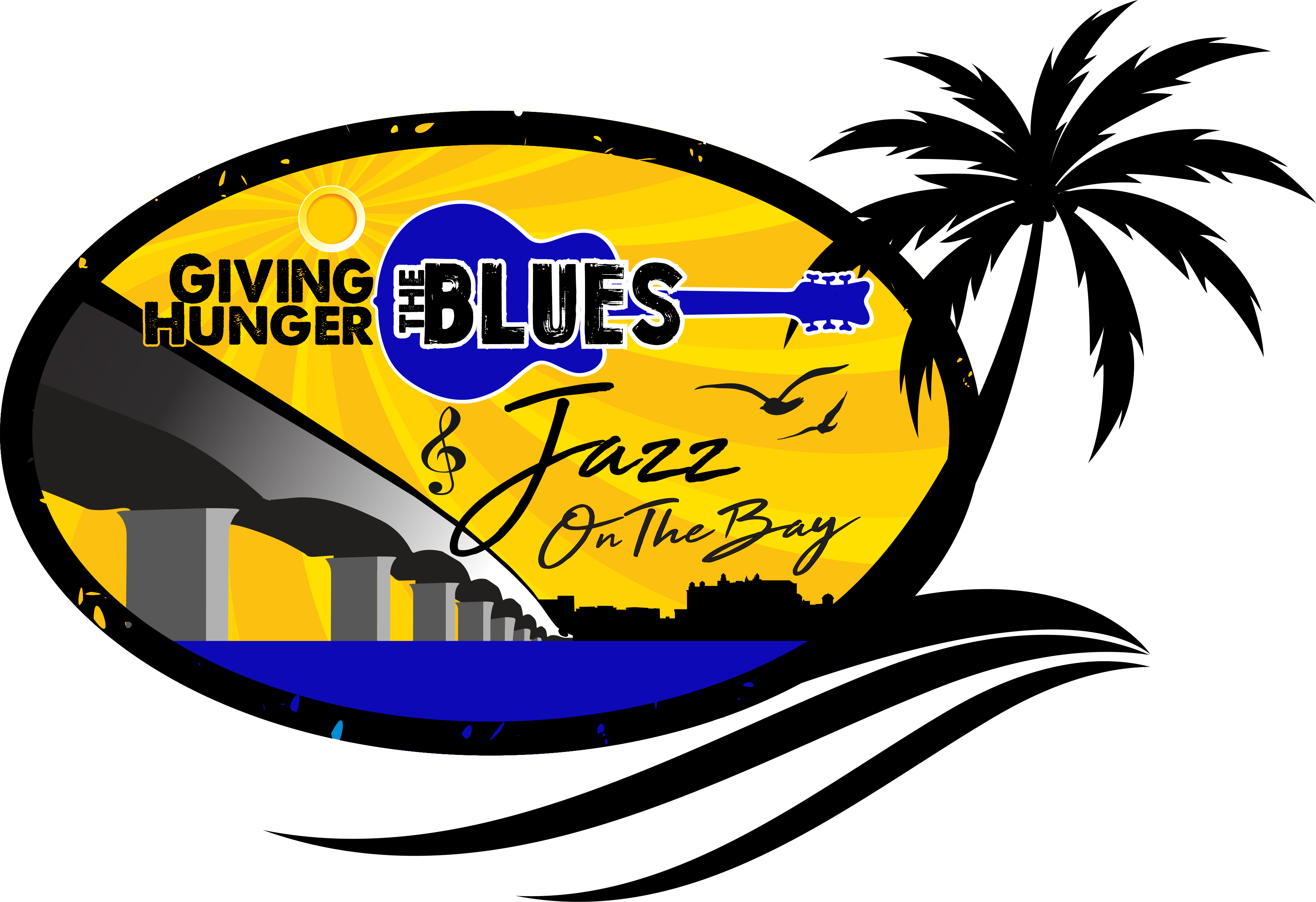 Giving hunger the blues. Jazz clipart jazz club