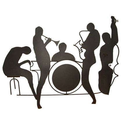 Jazz clipart jazz combo. Musician silhouettes silhouette band