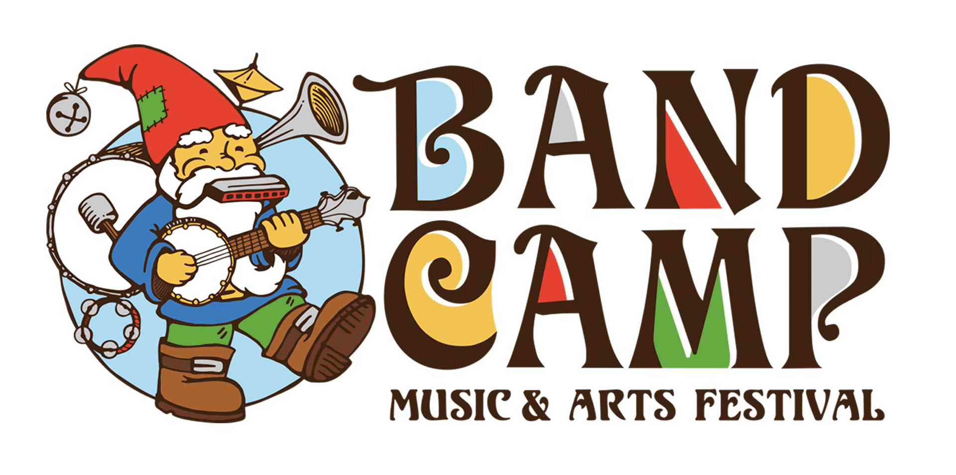 Band music arts festival. July clipart camp sign