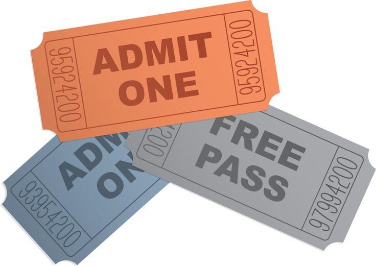 Ticket clipart passes. Clip art clipartcow clipartix