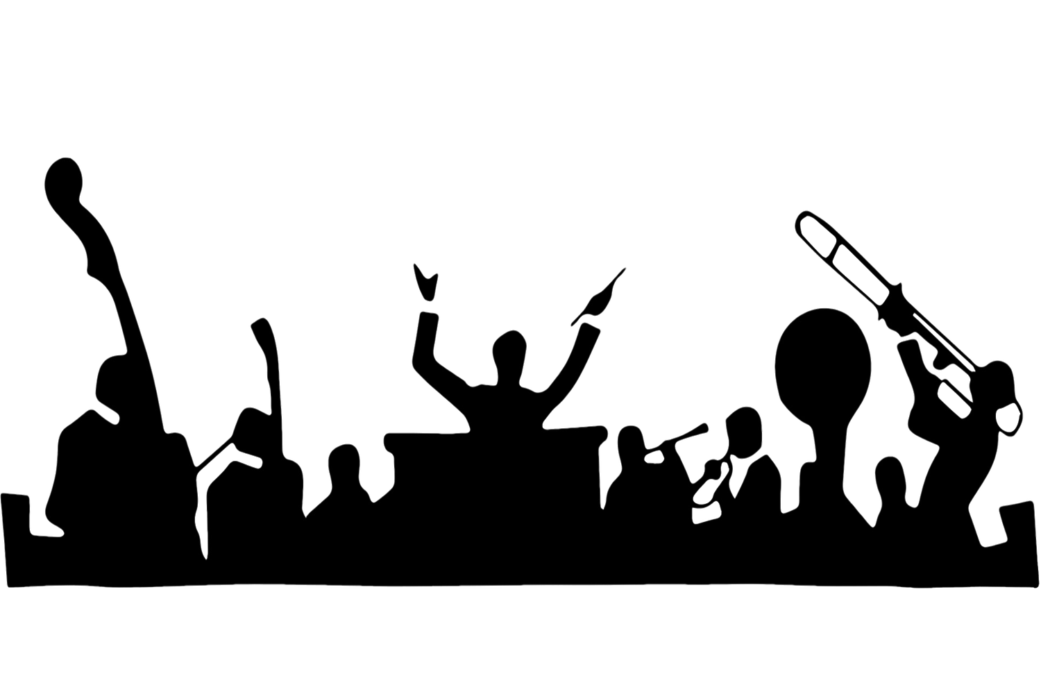 Band o rama concert. Crowd clipart cheered