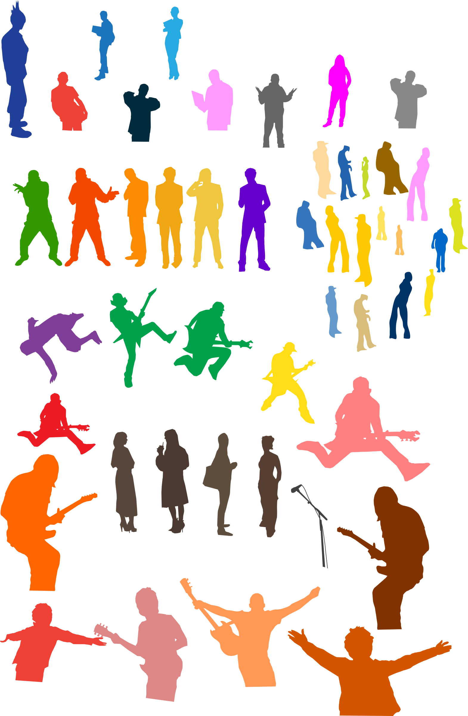 Crowd clipart students. Silhouettes big image png