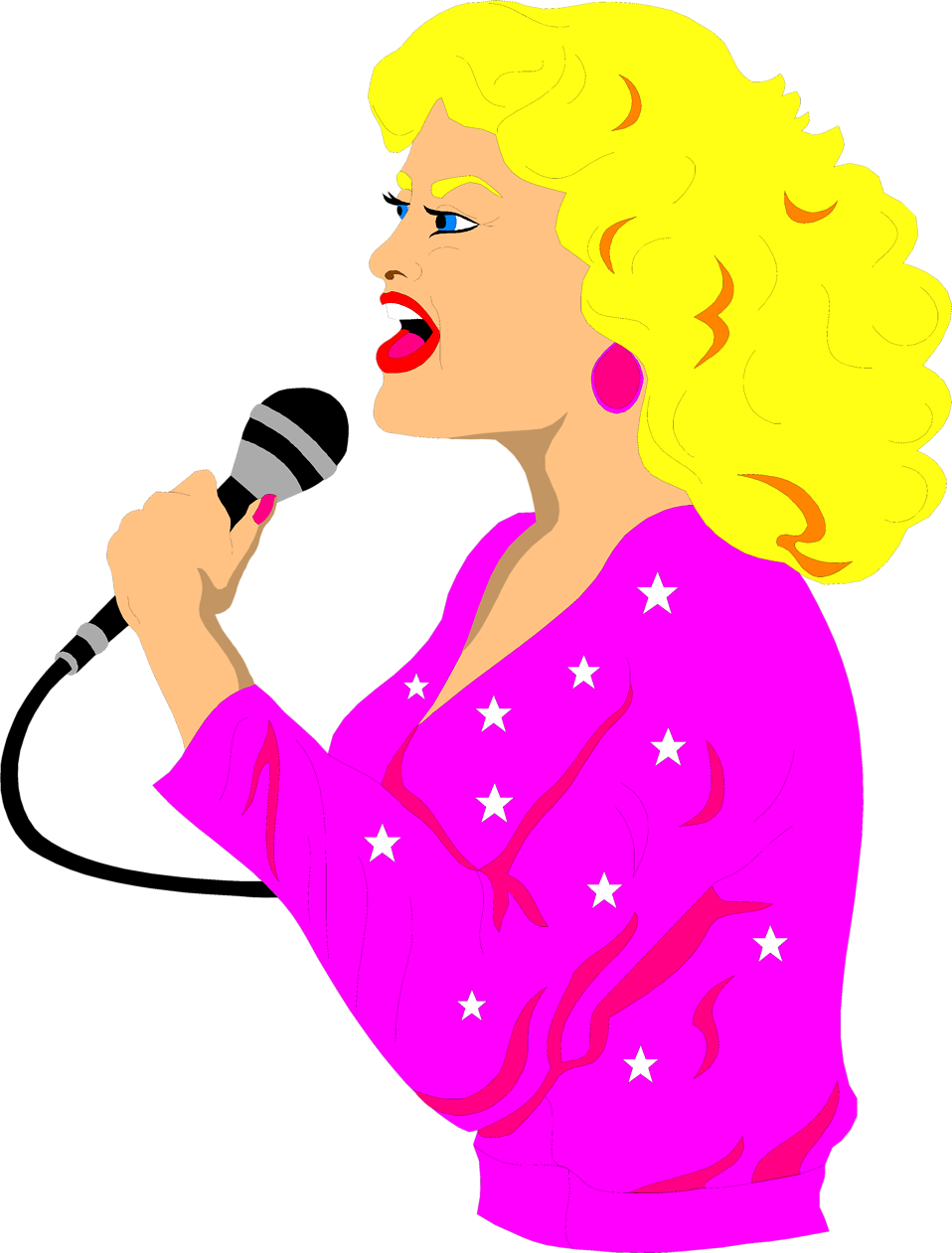 collection of transparent. Moving clipart singing
