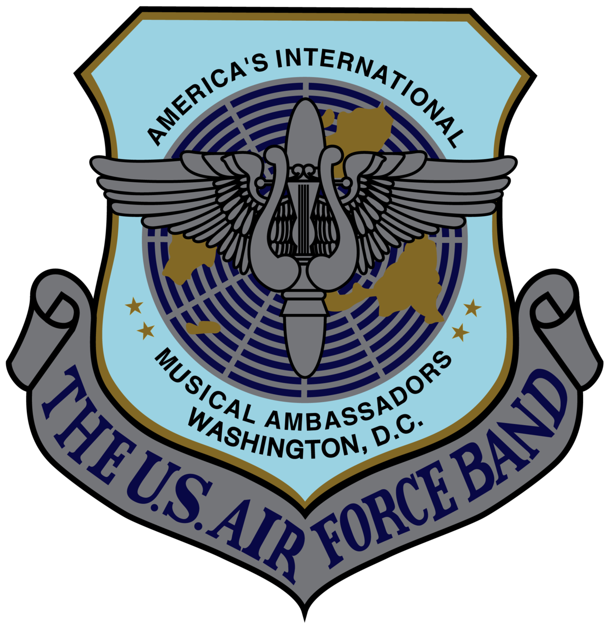 Parade clipart concert band. United states air force