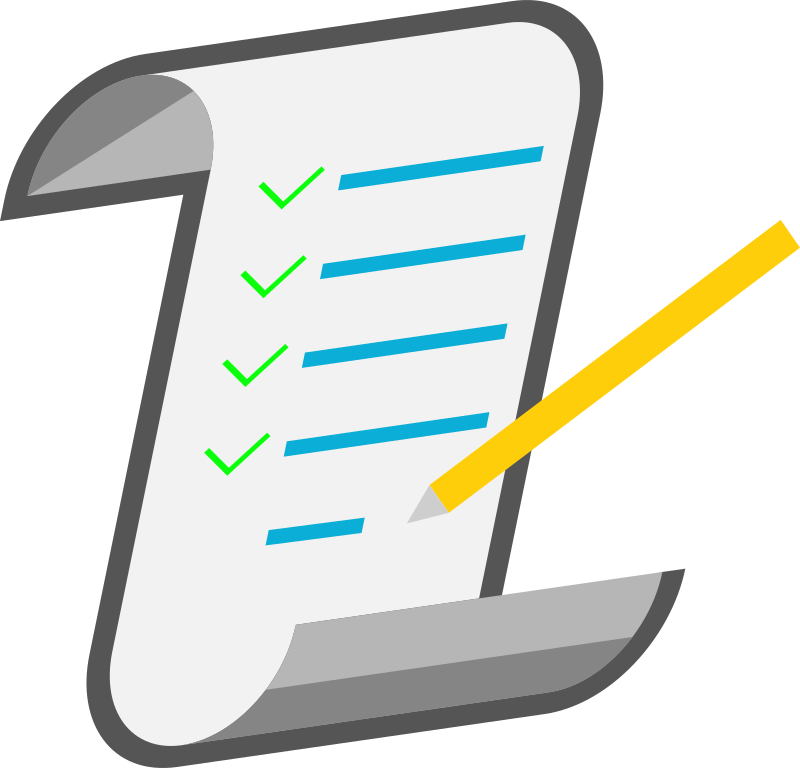 Computer clipart checklist.  collection of in