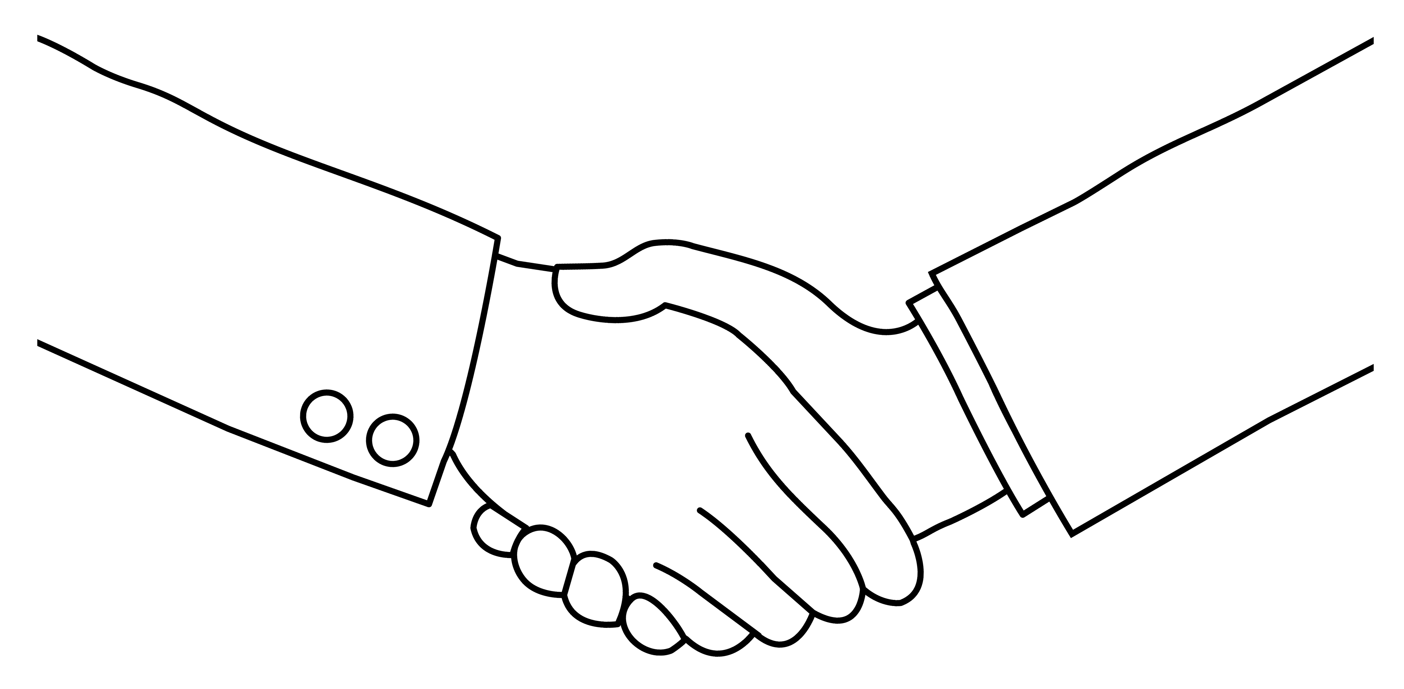 Building a great relationship. Professional clipart black and white