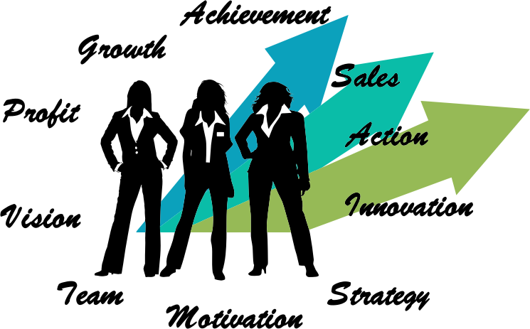 Female business executives medium. Vision clipart strategy
