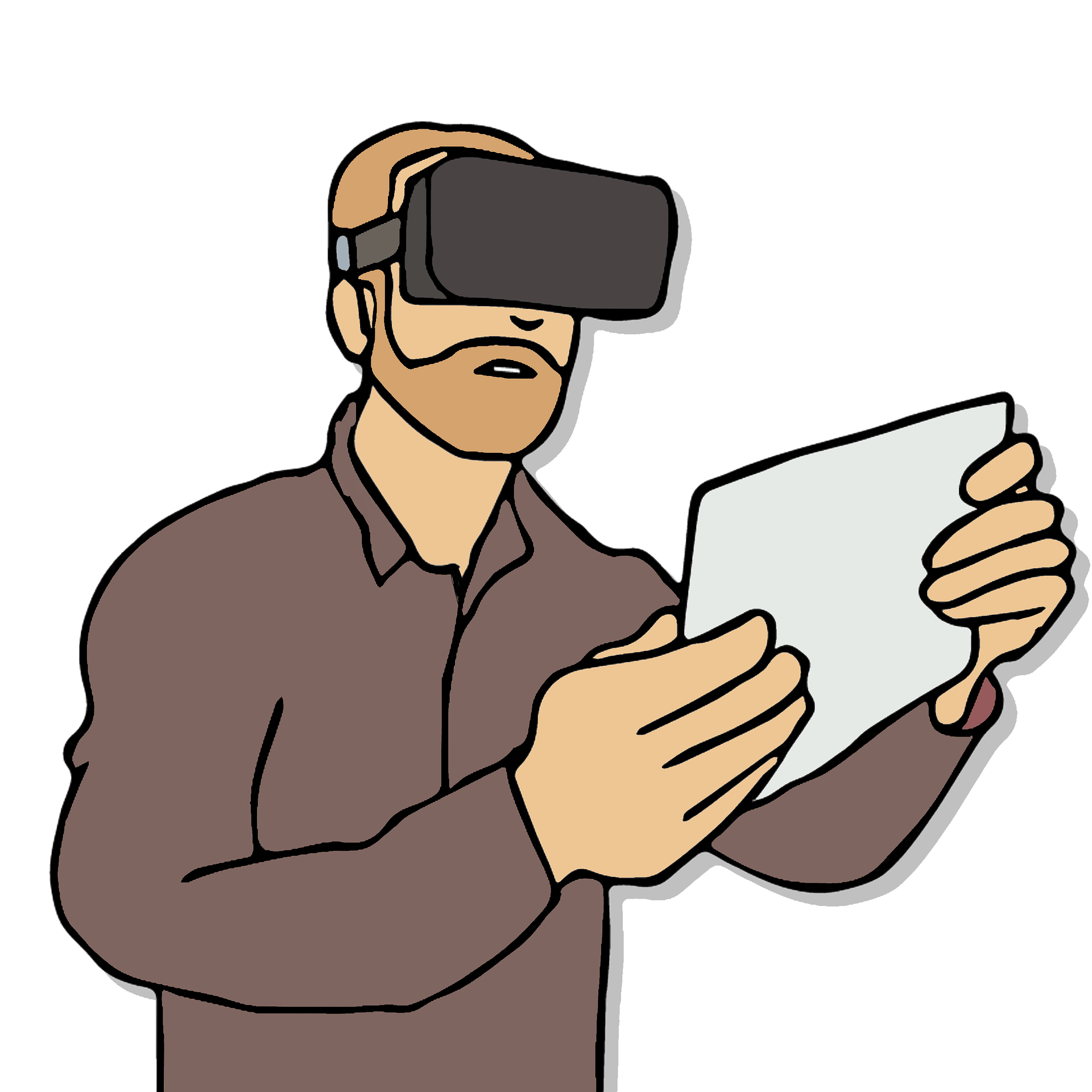 Vr for research tips. Working clipart researcher