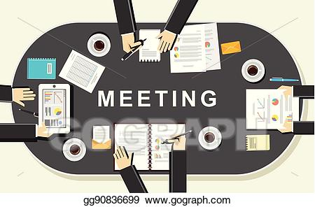 Conclusion clipart discussion. Eps vector meeting concept