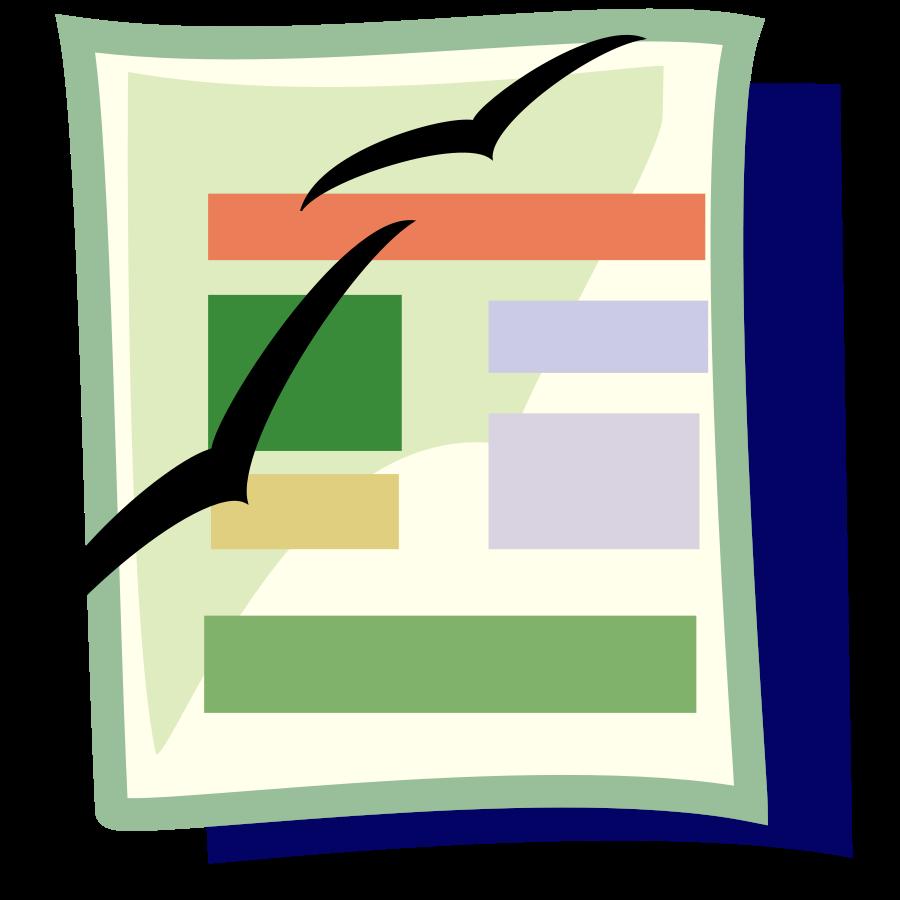 Document clip art cliparts. Conclusion clipart documentation