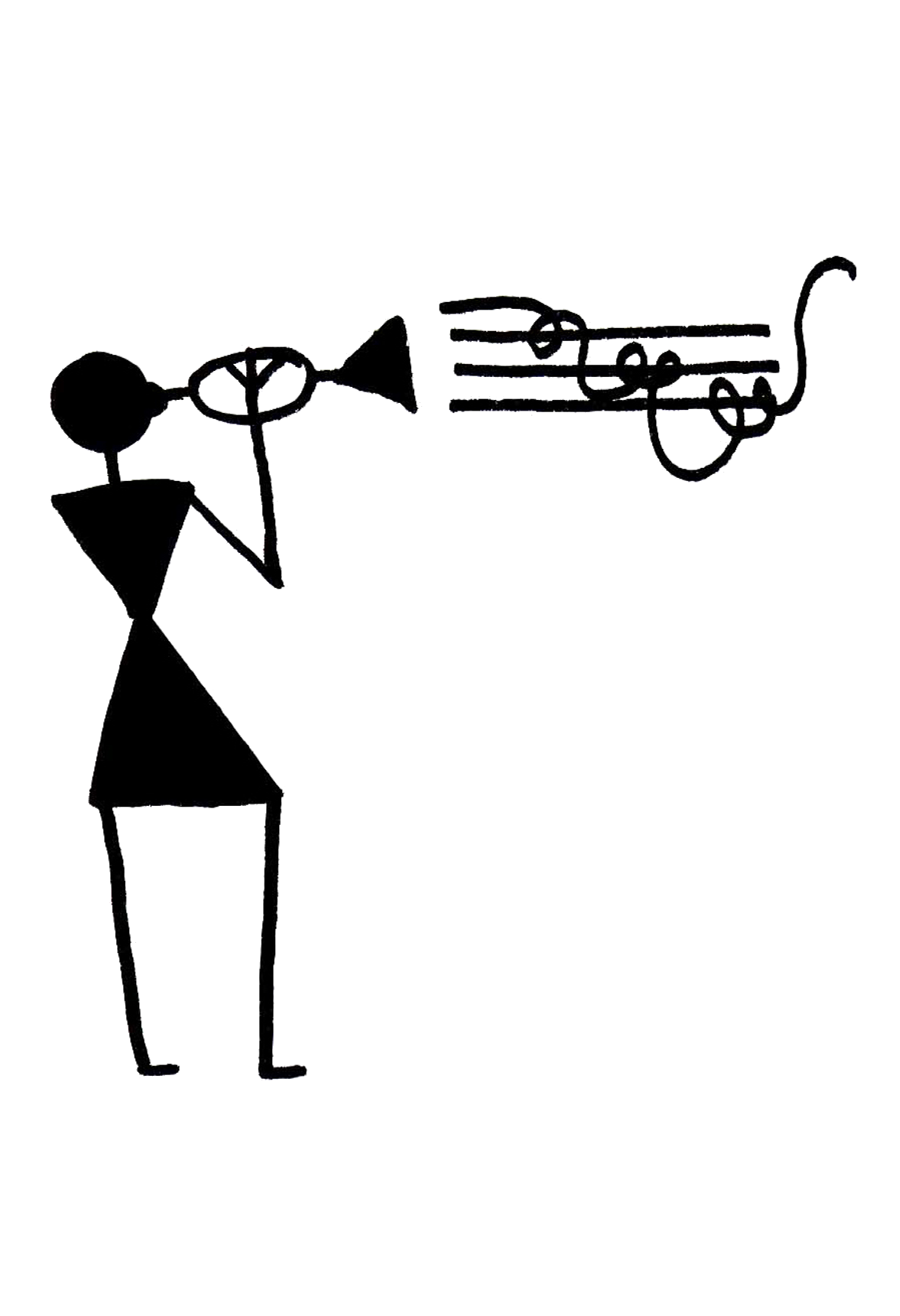 Musical skills on conclusion. Musician clipart jazz trumpet