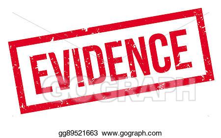 Rubber stamp stock illustration. Evidence clipart crime evidence