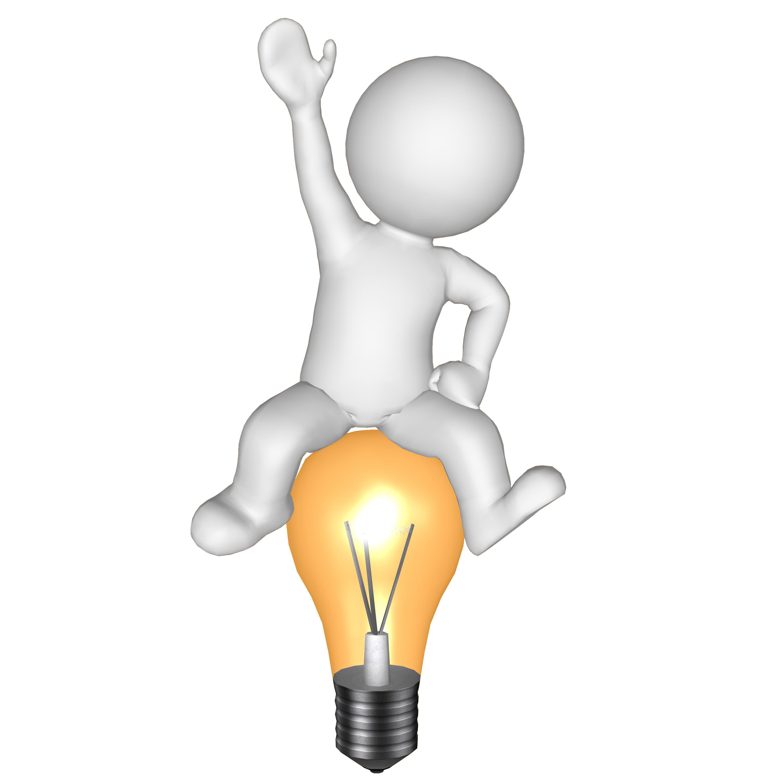 Conclusion clipart lightbulb. Simple idea creates winning