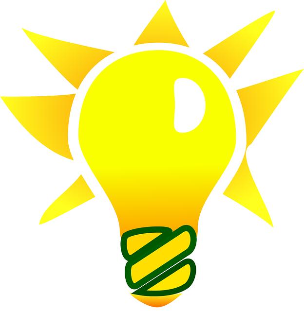 Light bulb idea icon. Conclusion clipart lightbulb