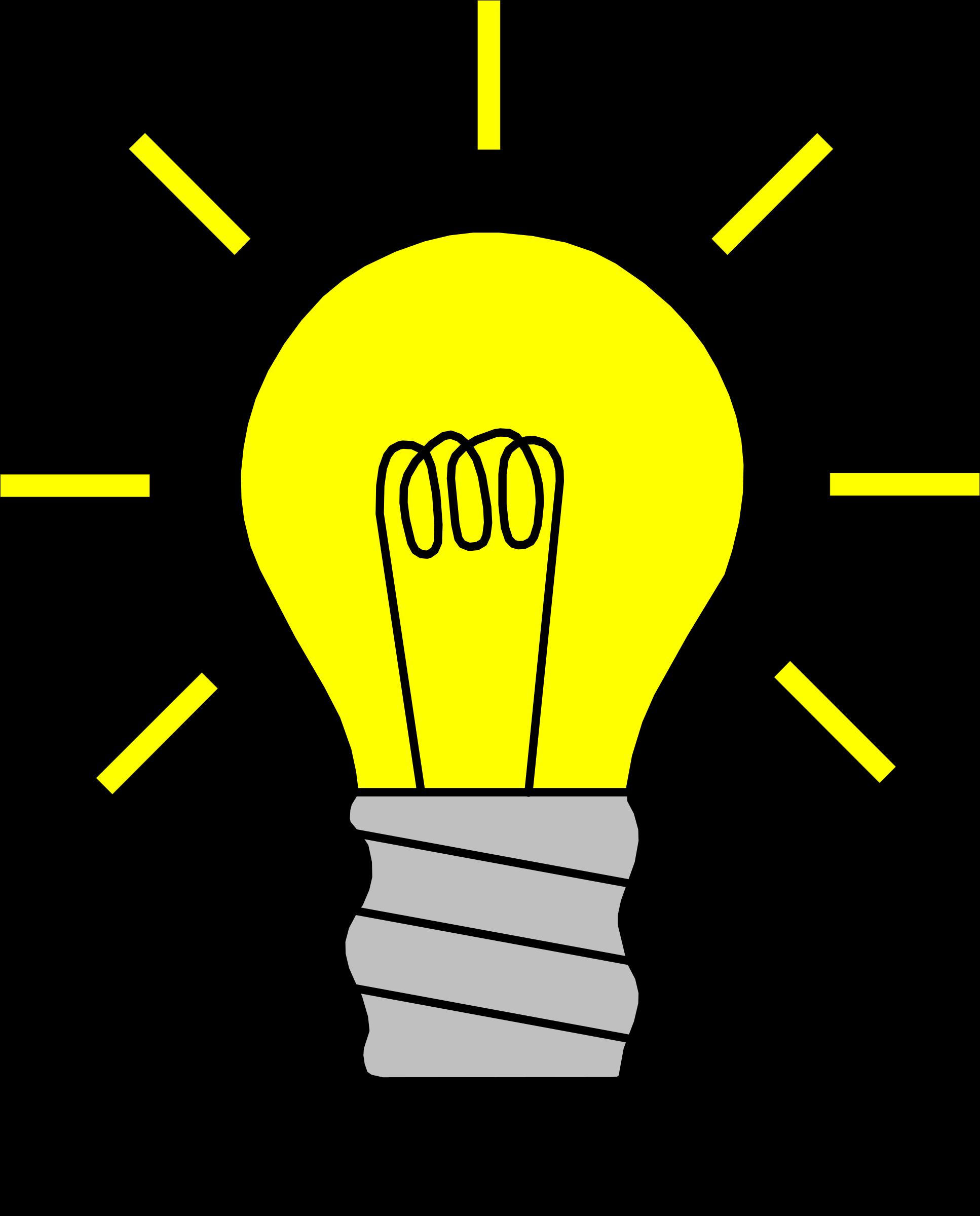 Light bulb on big. Thoughts clipart lighbulb
