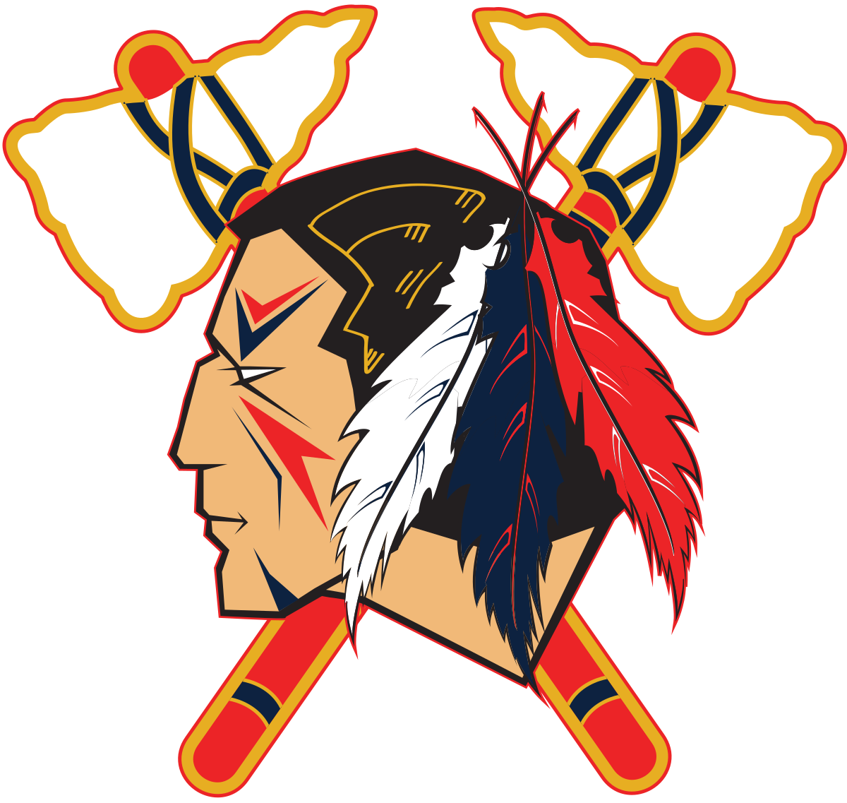 Johnstown tomahawks wikipedia . Warrior clipart tomahawk