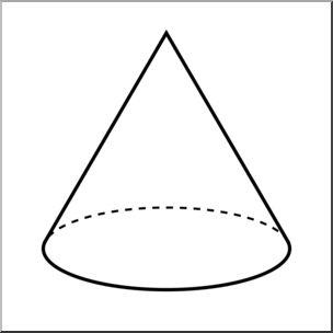 Clip art d solids. Cone clipart