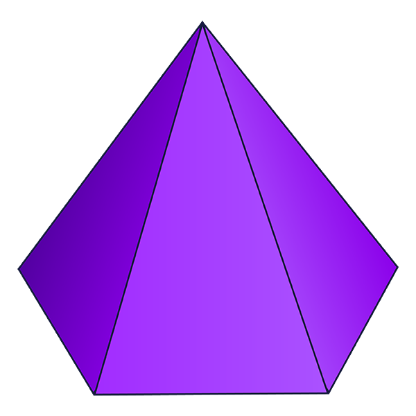 Hexagonal based pyramid d. Geometry clipart solid figure