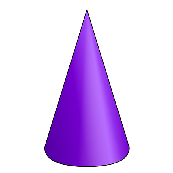 Geometry clipart 3d shape. Cone d nets of