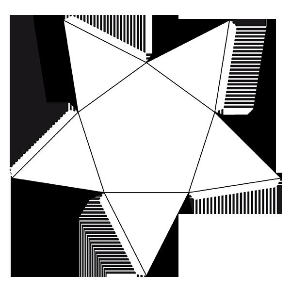 Hexagonal based pyramid d. Geometry clipart 3d shape