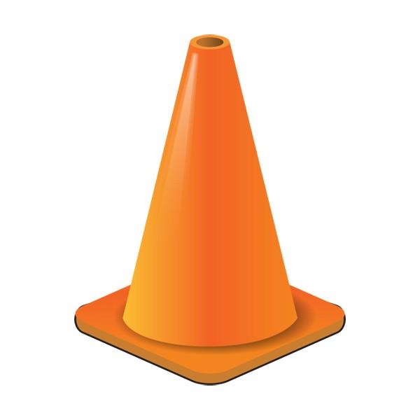 Orange . Cone clipart