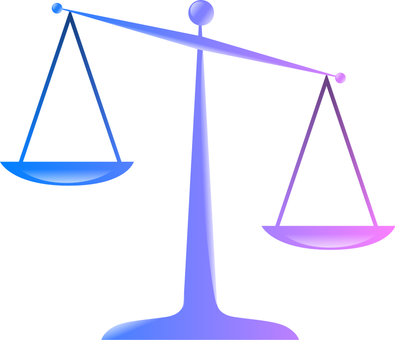 Justice clipart justified. Scale animated pencil and