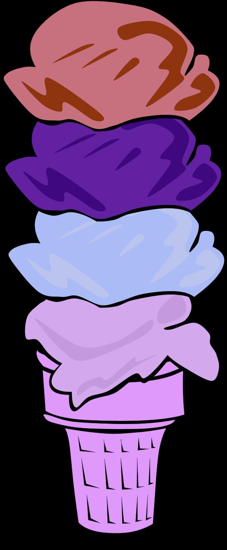 Purple clipart ice cream. Cone clip art free