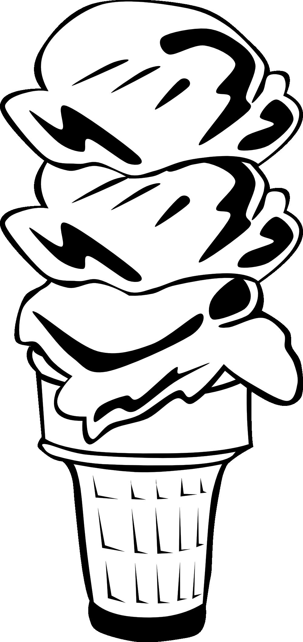 Ice clipart sketch. Cream cone clip art