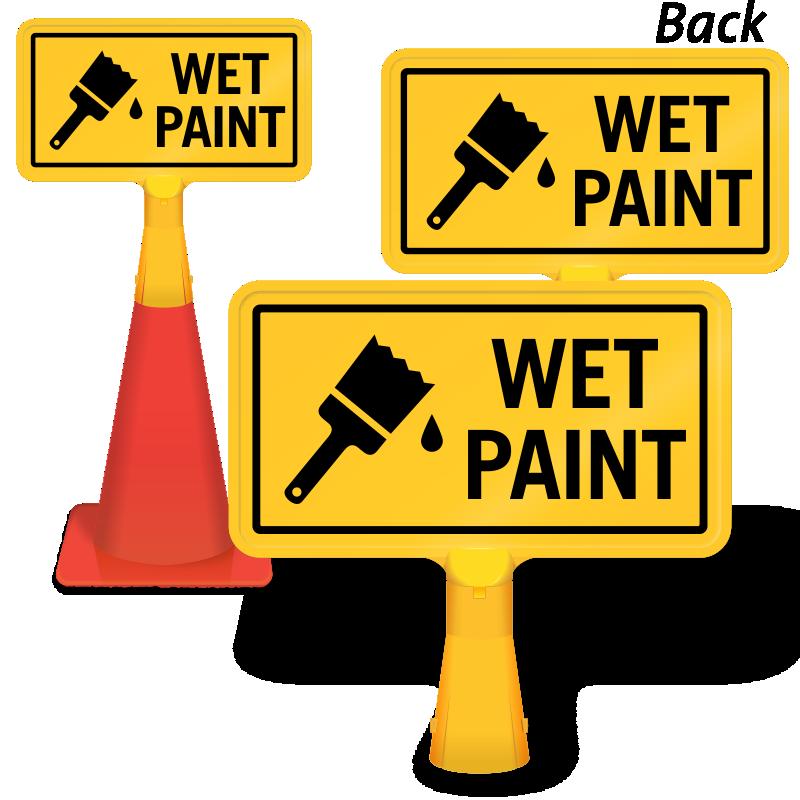 Coneboss sign sku cb. Painter clipart wet paint
