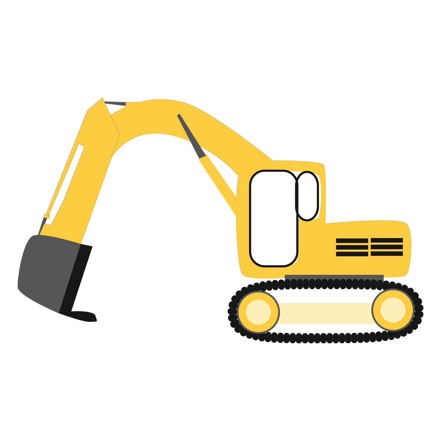 Excavator clipart construction. Trucks svg files by