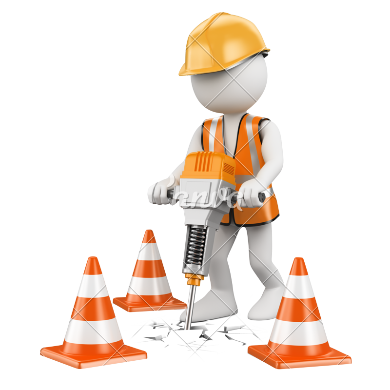 Drill clipart road worker.  d white people