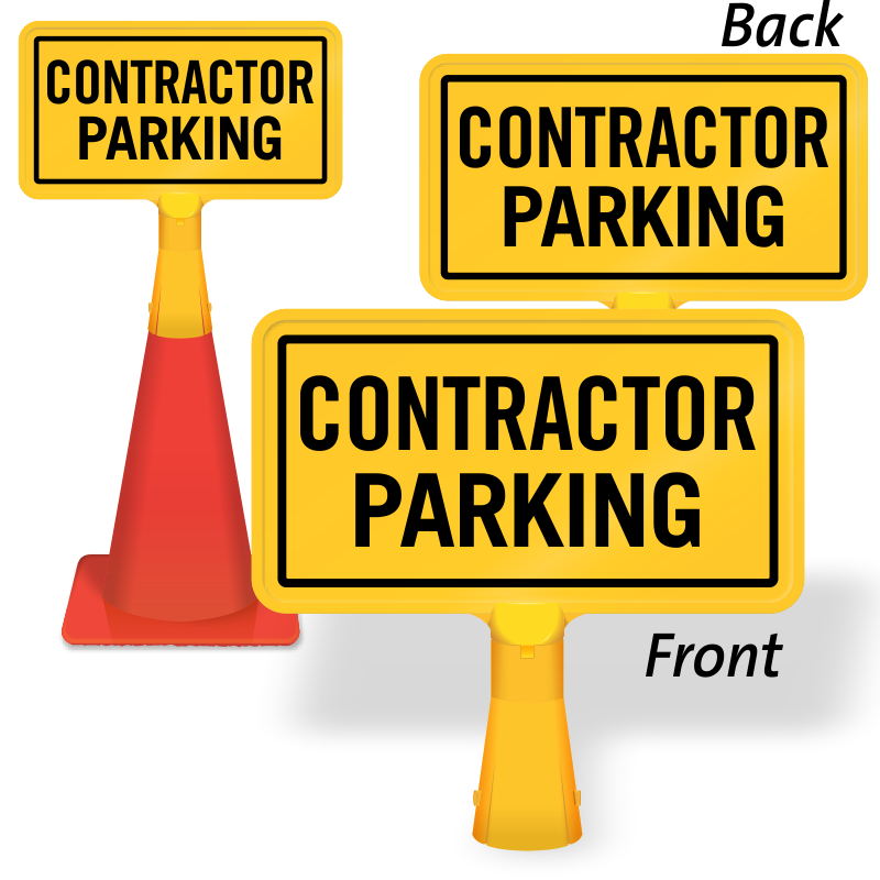Parking lot clipart yellow. Construction no signs zoom