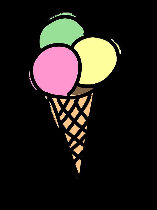 Cone ice cream free. Waffle clipart cartoon