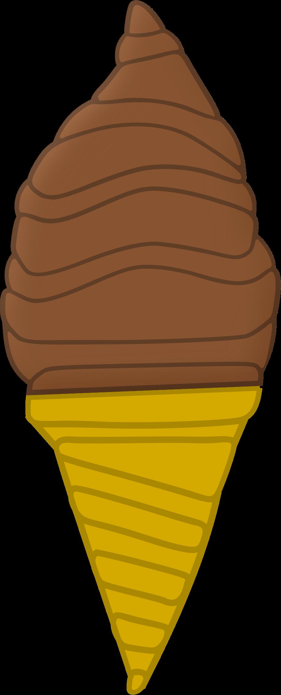 Ice cream cone big. Icecream clipart chocolate