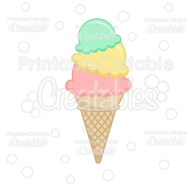 scoop cream cone. Ice clipart file
