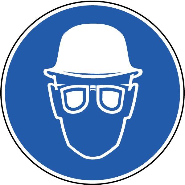 Wear hard hat eye. Goggles clipart chemistry goggles