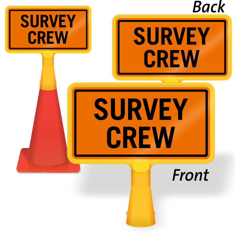 Men at work signs. Cone clipart highway construction