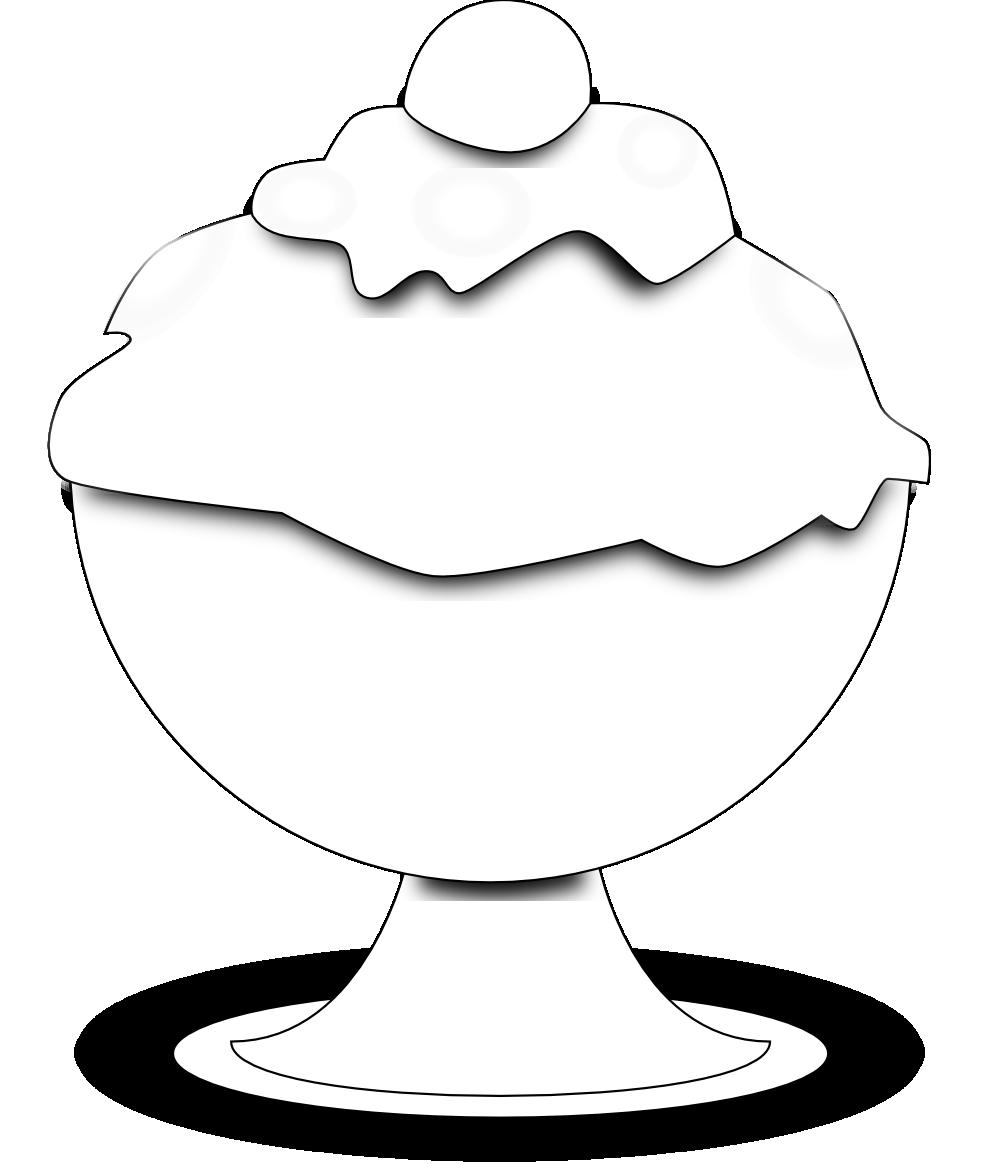Cream bowl panda free. Ice clipart black and white