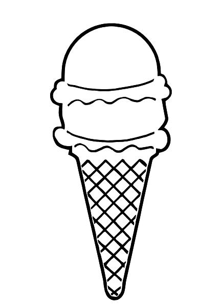 Cream cone clip art. Ice clipart outline