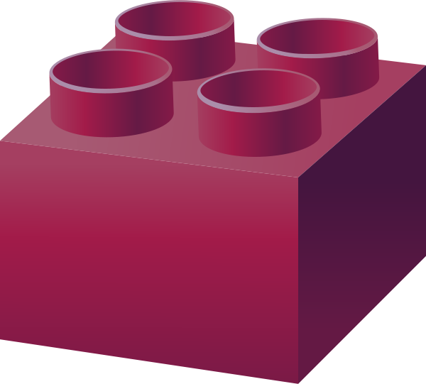 Legos clipart brick. Purple lego vector data