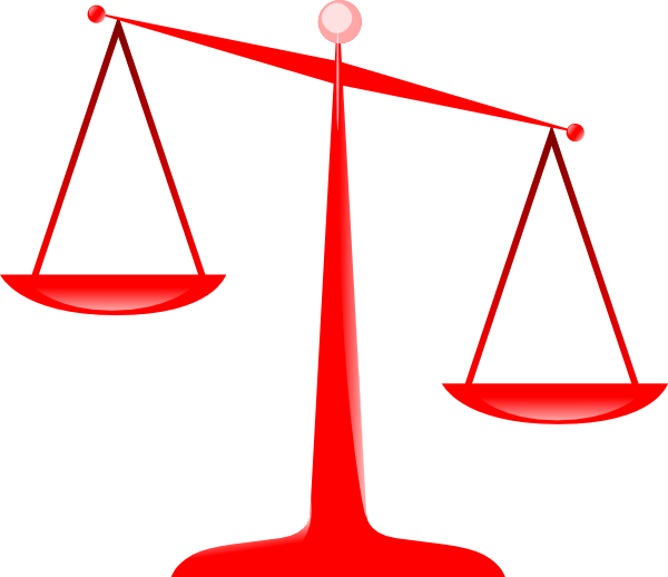 Red scale . Justice clipart justice symbol